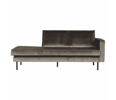 BePureHome Sofá diván marrón terciopelo marrón claro 203x86x85cm