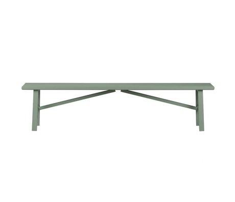 vtwonen Banc côte à côte vert bois béton 37,5x160x30cm