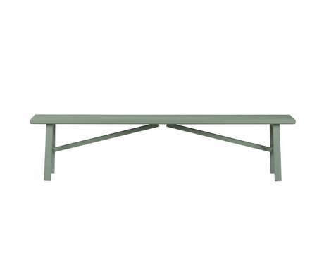 vtwonen Bench Side by Side green wood concrete 37,5x160x30cm