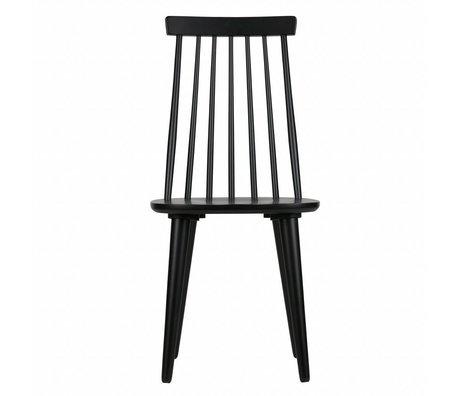 vtwonen Spisestole sticks sæt af 2 sort træ 92x43x48cm