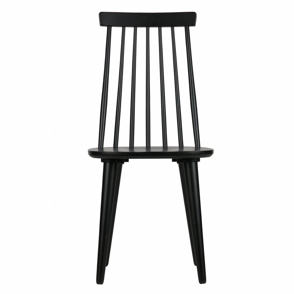 Dining Chairs Sticks Set Of 2 Black Wood 92x43x48cm Lefliving Com