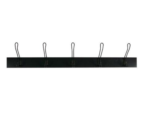 vtwonen Armoire suspendue sur bois noir L 21,5x120x12cm
