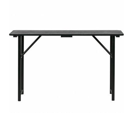 vtwonen Tablero sidetable negro madera metal 75,1x125x48cm