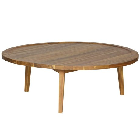 vtwonen Side table Spruce table natural wood L 35x100x100cm