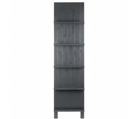 vtwonen Magazine Stand black wood 215x56x10cm