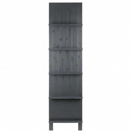 vtwonen Soporte de revista negro madera 215x56x10cm