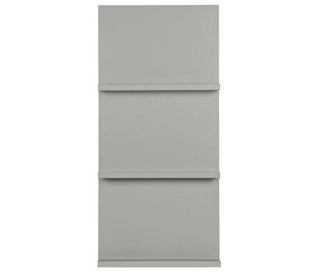 vtwonen Zeitschriftenaufsteller hängend grau Holz 120x56x10cm