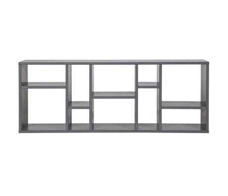 vtwonen Nødkasse Horizon grå stål 50x130x20cm