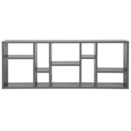 vtwonen Setzkasten Horizon grau Stahl 50x130x20cm