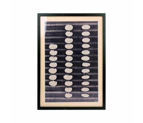 HK-living Kunstdruck Abstract schwarz weiß 52x36,5x2,5cm