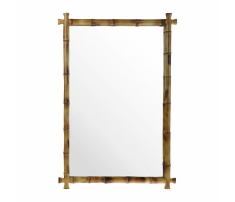 HK-living Espejo de bambú 80x55x3cm
