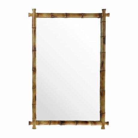 HK-living Specchio di bambù 80x55x3cm