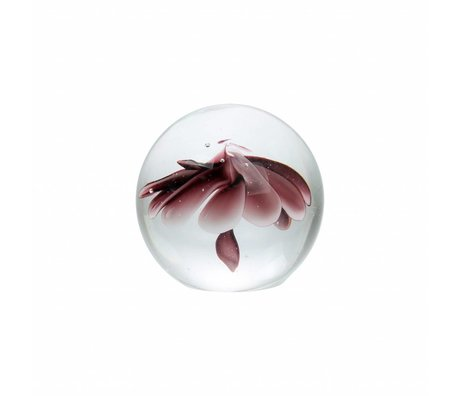 HK-living Glaskugel Blume S violett Glas 9,5cm
