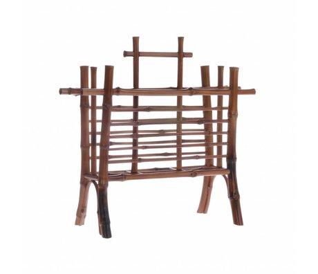 HK-living Briefhalter braun Bambus 27,5x11,5x26cm