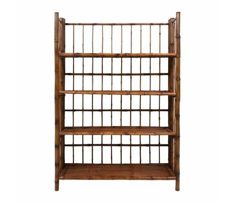 HK-living Estante plegable bambú marrón 80x25x105cm