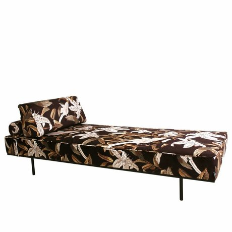 HK-living Sofa Daybed Floral flerfarvet trykt fløjl 200x80x41cm