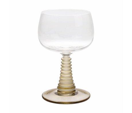 HK-living Weinglas mit gedrehtem Fuß grün Glas 8,5x8,5x13,5cm