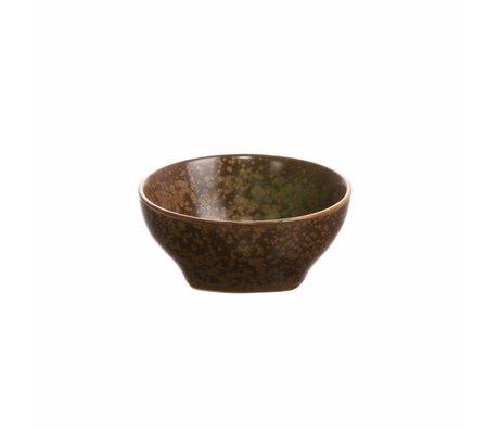 HK-living Bol Kyoto porcelaine brune 7,8x7,8x3,5cm