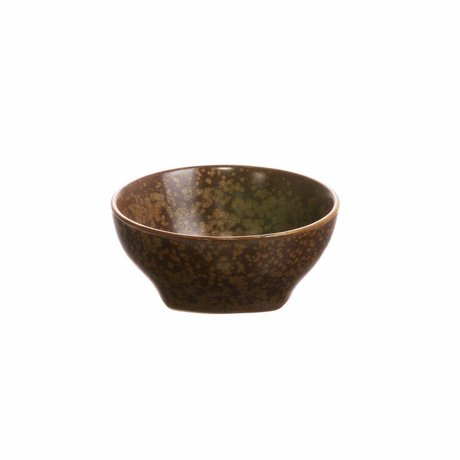 HK-living Bowl Kyoto brown porcelain 7,8x7,8x3,5cm