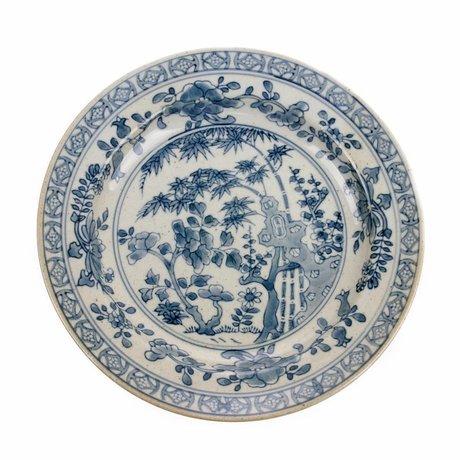 HK-living Plate Kyoto multicolor de cerámica 25x25x3cm
