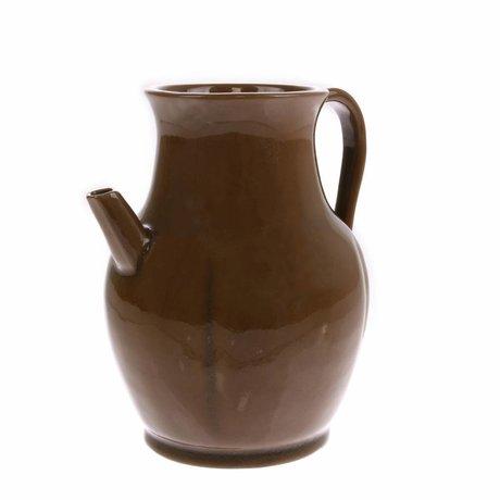 HK-living Kanne S braun Keramik 17x17x19cm