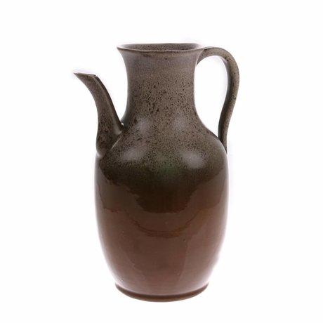 HK-living Pot M en céramique marron 16x16x25cm