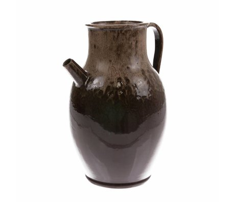 HK-living Jug L brown ceramic 20x20x31cm