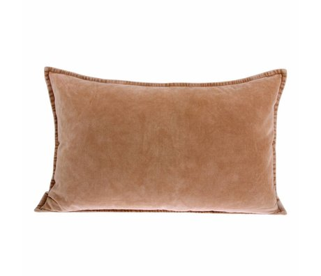 HK-living Cushion velours terciopelo rosa nude 40x60cm