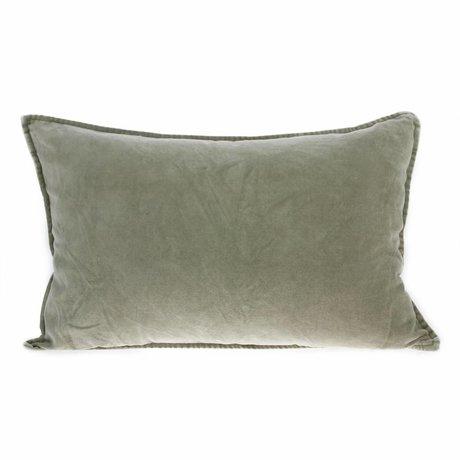 HK-living Cushion velours green velvet 40x60cm