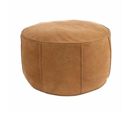 HK-living Cuscino seduta scamosciato marrone chiaro 50x50x25cm