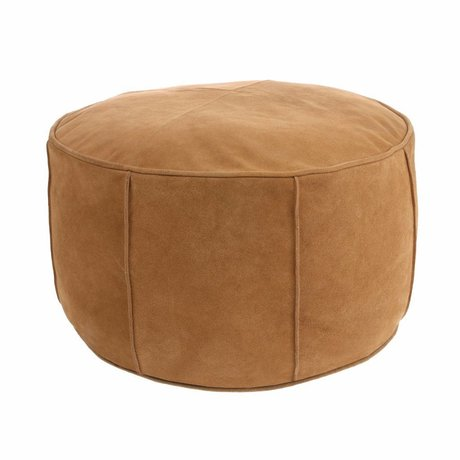 HK-living Seat cushion light brown suede 50x50x25cm