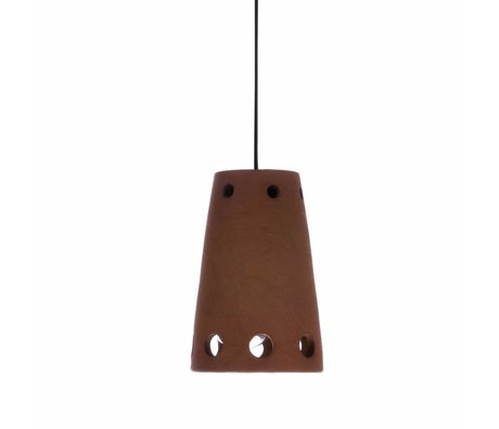 HK-living Hanging lamp number 2 terracotta colored 10x10x15,5cm
