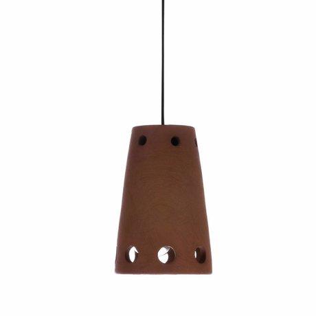 HK-living Lampada a sospensione numero 2 in terracotta colorata 10x10x15,5cm