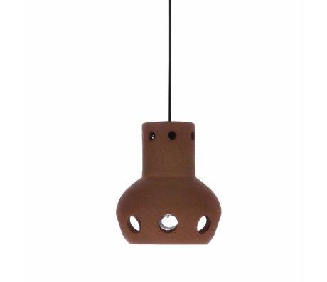 HK-living Lampada a sospensione numero 2 in terracotta colorata 13x13x15cm