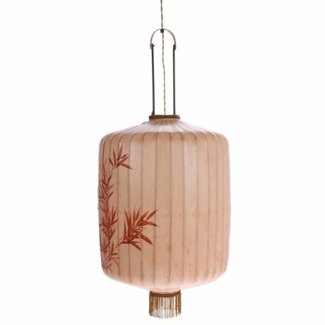 HK-living Lantern XL skin-colored cotton 45x45x62 / 92cm