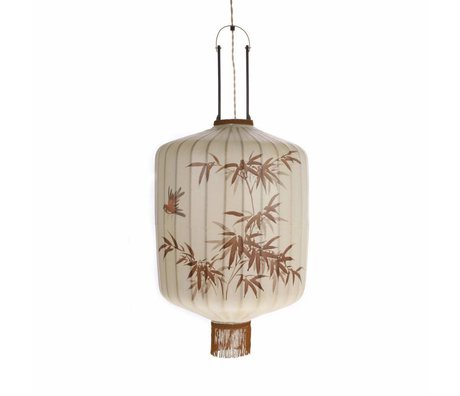 HK-living Lantern L cream colored cotton 42x42x52 / 92cm