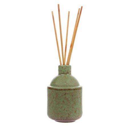 HK-living HK.8 varitas de incienso: flor verde 8,5x8,5x13,5cm