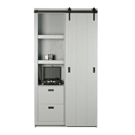 vtwonen Sliding cabinet Barn wood concrete gray 230x122x37cm