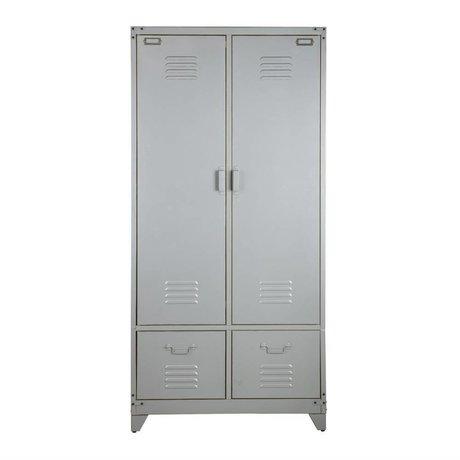 vtwonen Locker silver metal 190x90x50cm