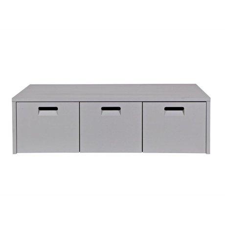 vtwonen Banco de almacenamiento Tienda pino gris claro 120x50x36cm