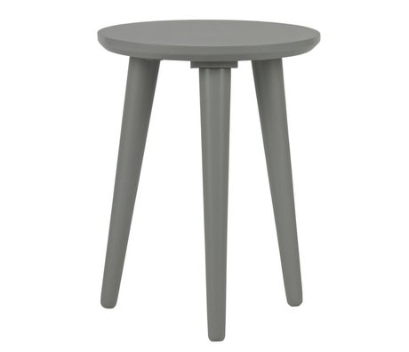 vtwonen Stool Slide concrete gray wood Ø36x46cm