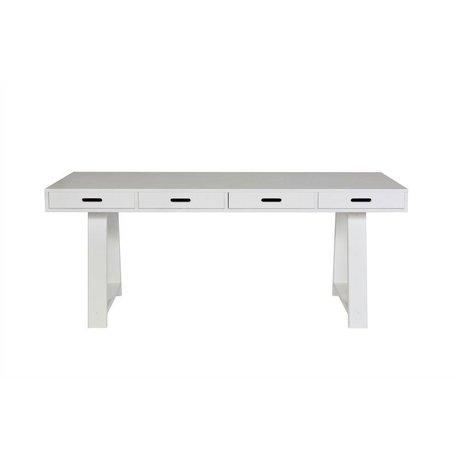vtwonen Sidetable 4 drawers white pine 178x55x75cm