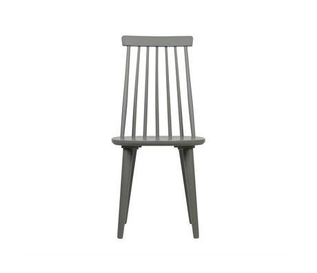 vtwonen Conjunto de palillos para comedor de madera gris hormigón 43x48x92cm