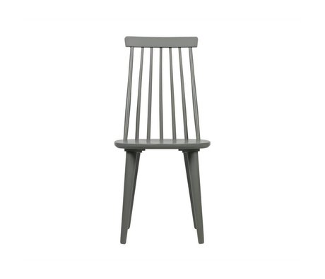vtwonen Dining chair sticks set of 2 concrete gray wood 43x48x92cm