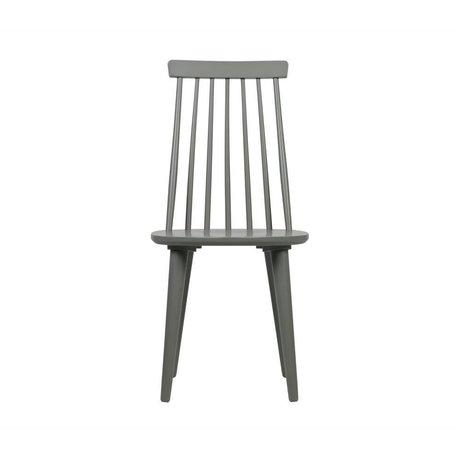 vtwonen Esszimmerstuhl Sticks Set aus 2 betongrau Holz 43x48x92cm