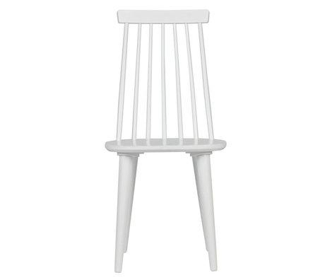 vtwonen Esszimmerstuhl Sticks Set aus 2 weiß Holz 43x48x92cm