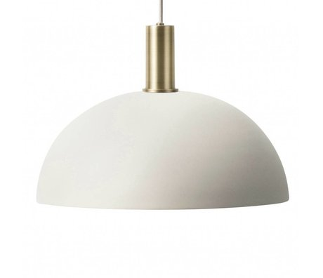 Ferm Living Hanging lamp Dome Low light gray brass colored gold metal