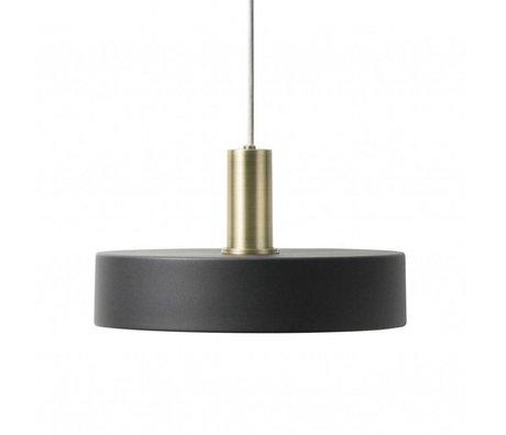 Ferm Living Hængelampe Optag Lavt sort messingfarvet guldmetal