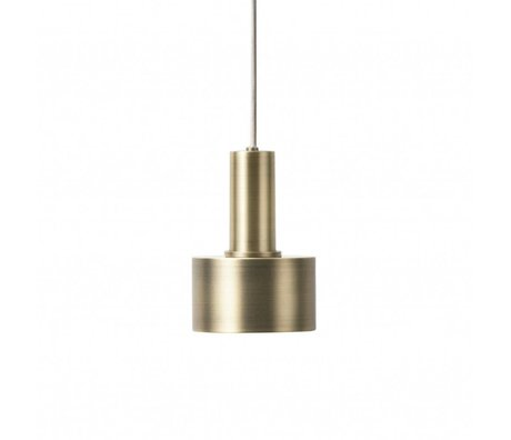 Ferm Living Hanging lamp Disc Low brass gold color metal