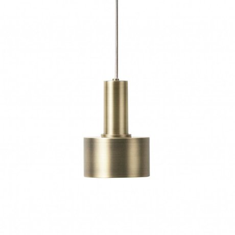 Ferm Living Lampe à suspension Disc Low laiton couleur or métal